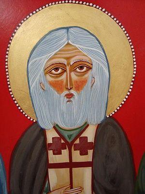 Преподобный Серафим Саровский, грузинская икона 1