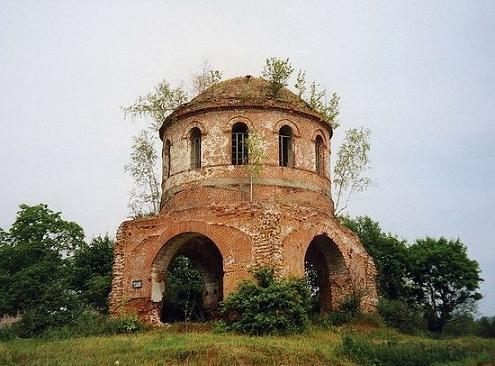 Церковь Иконы Божией Матери Казанская в Гагино до восстановления