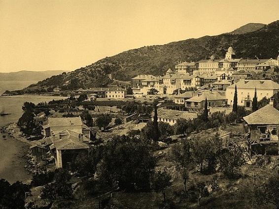 Афон, Русский Свято-Пантелеймонов монастырь, фото начала XX века