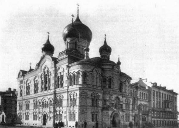 Церковь Иверской иконы Божией Матери - Адмиралтейский район - Санкт-Петербург, фото скорее всего начала XX века