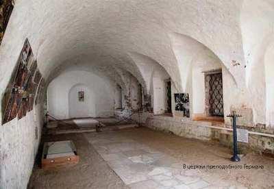 Интерьер церкви прп. Германа