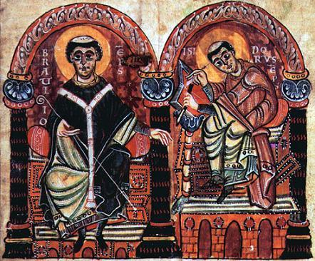 Изображение епископа Браулио Сарагосского и Исидора Севильского