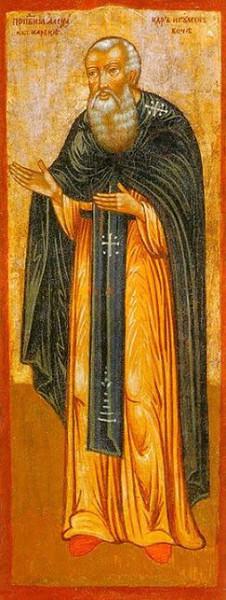 Преподобный Александр Вочский. Икона XVIII века. г.Солигалич