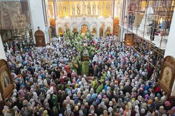 В Свято-Георгиевском соборе (г. Макеевка) состоялось прославление в лике святых схимонаха Илии (Ганжи)