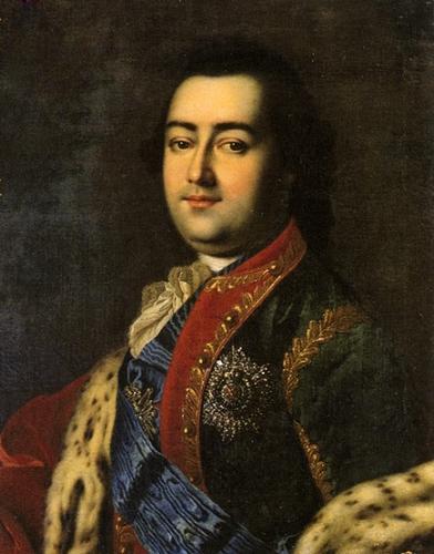 Портрет графа Алексея Григорьевича Разумовского, любимца императрицы Елизаветы