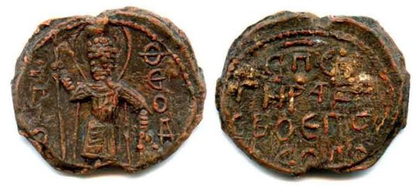 Печать Мстислава Владимировича вел. князя Киевского 1125-1132 гг.