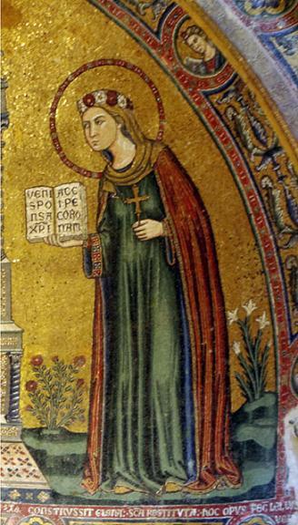 Мц. Реститута Африканская. Мозаика в часовне Св. Реституты в Неаполитанском кафедральном соборе