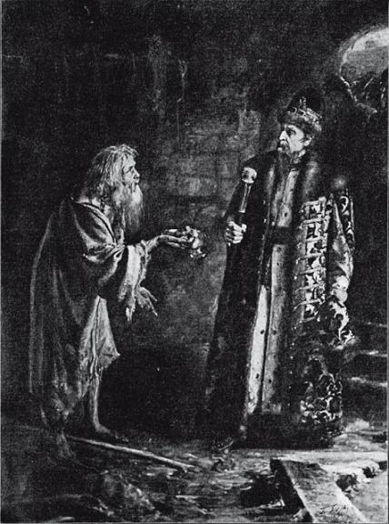 Иоанн Грозный и юродивый Никола Салос