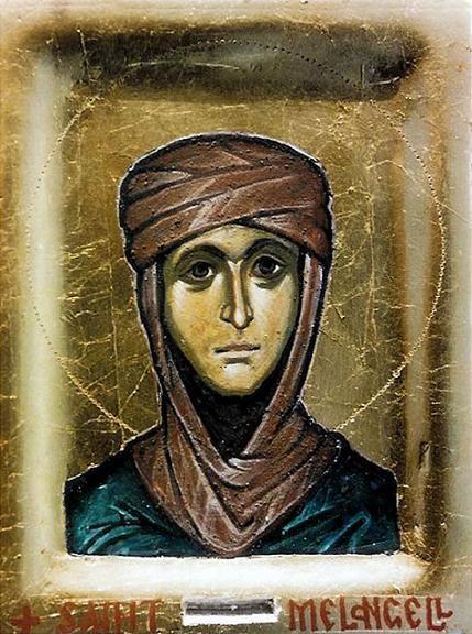 Преподобная Мелангелла (Монакелла, Мелания) Валлийская, икона из Пеннант-Мелангелл