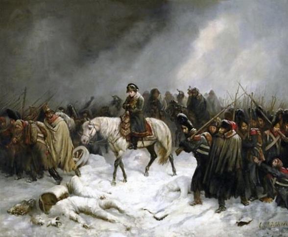 Возвращение Наполеона из похода на Россию, художник Нортэн, начало XIX в.