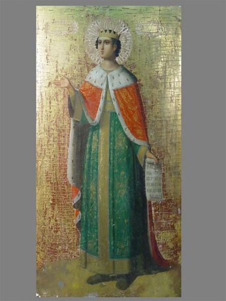 св. царь Соломон, икона XIX век