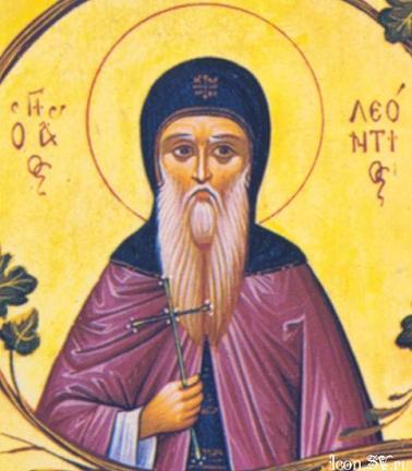 Преподобный Леонтий Прозорливый, Афонский