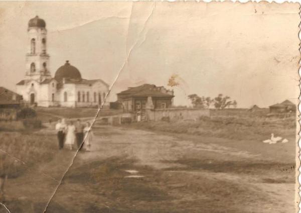 Церковь Покрова Пресвятой Богородицы - Верхний Яр - Далматовский район - Курганская область, старое фото