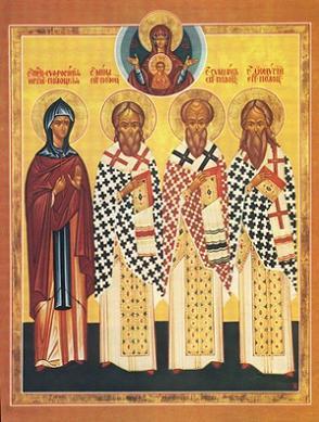 Святители Полоцкие Мина, Симеон и Дионисий, прп.