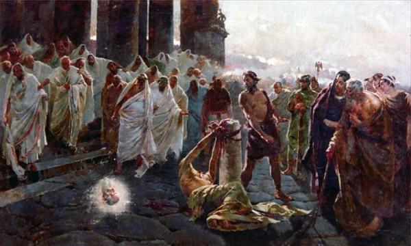 Казнь апостола Павла, Enrique Simonet 1887 год