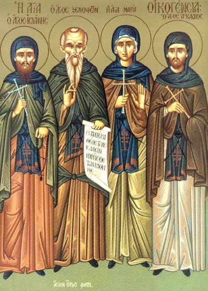 56679_original.jpgПреподобный Ксенофонт, супруга его Мария и сыновья их Аркадий и Иоанн