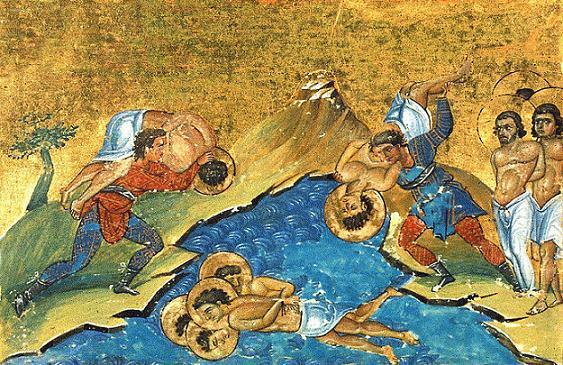 Cвятые мученики Анания, пресвитер, Петр, темничный страж, и с ними 7 воинов