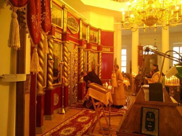 храм Телебукино октябрь 2014 владыка Дионисий