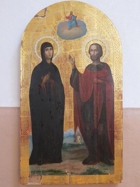 икона Александр Невский и Евдокия