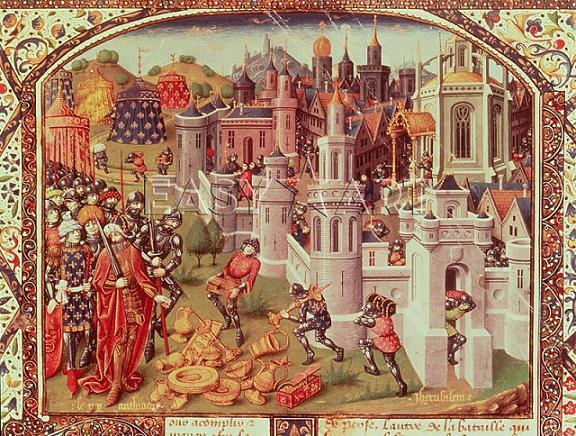 разграбление Коснтантинополя крестоносцами в 1204 году