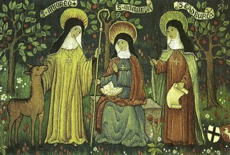 образ трёх первых игумений минстерской обители
