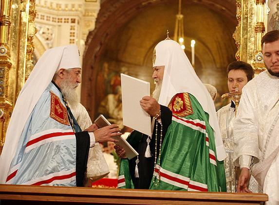 Патриарх Алексий и митрополит Лавр - восстановление единства