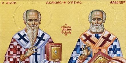 святители Рентинские Акакий и Дамаскин Студит