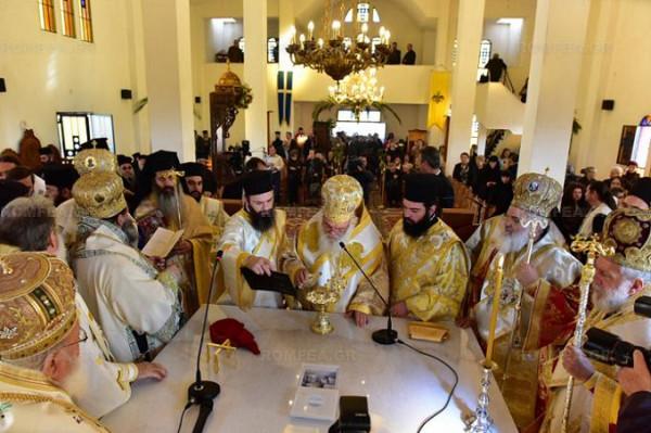 Греции освящен храм в честь Порфирия Кавсокаливита 4