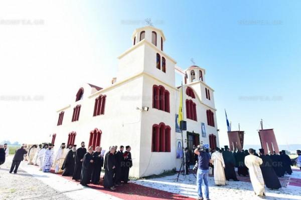Греции освящен храм в честь Порфирия Кавсокаливита 1