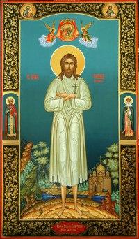 Мерная икона прп. Филиппа Сухонского. Иконописная мастерская Румянцевых