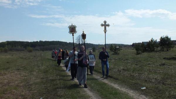 Крестный ход вокруг села Ильинское май 2016 1