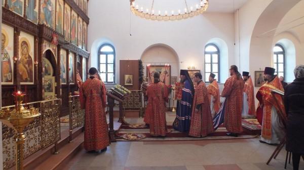Красная Горбатка архиерейское богослужение 1