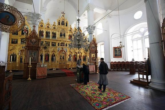 Кафоликон монастыря (старое фото без фресок)