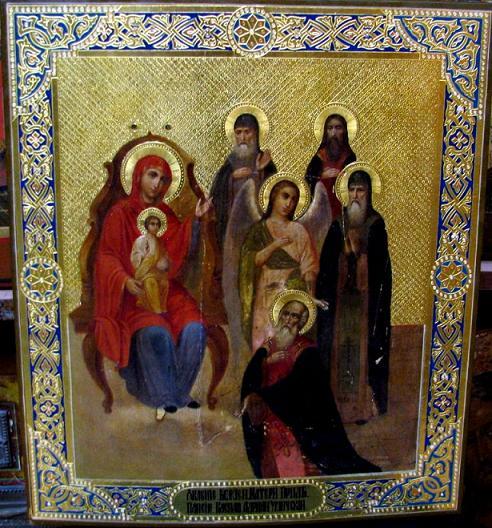 Явление Пресвятой Богородицы преп.Паисию и Адриану Угличскому