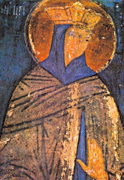 Царевич Иоасаф. Успенский собор Кремля. Фреска алтарной преграды. 1481