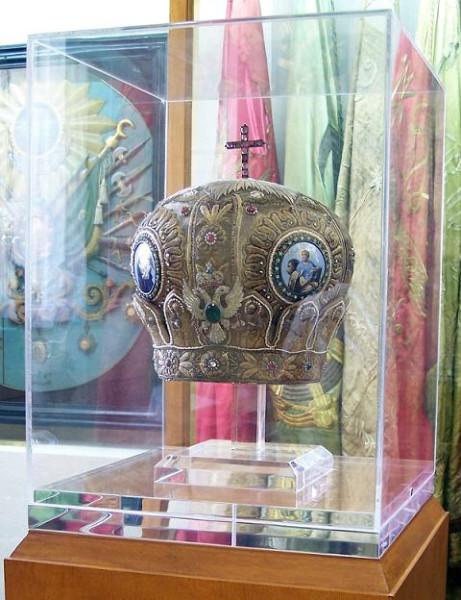 Митра сщмч. Хризостома Смирнского. Национальный исторический музей, Афины