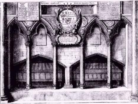 Средневековое изображение гробницы Св. Себби в соборе Св. Павла в Лондоне