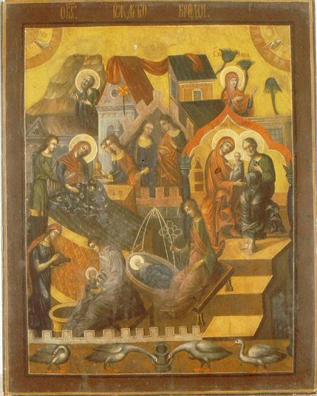 Икона Богородицы «Рождество Богородицы» Лукиановская