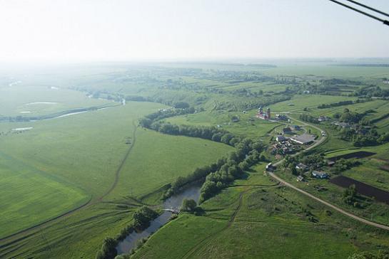 Куликово поле, современный вид, фото с высоты