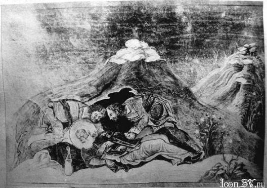 мученик Варипсава, Миниатюра Минология Василия II. Константинополь. 985 г. Ватиканская библиотека. Рим