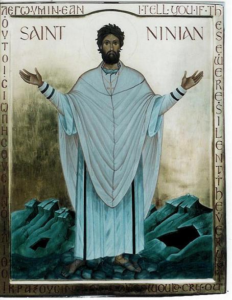 Икона св. Ниниана кисти английского иконописца Айдана Харта (Hart)