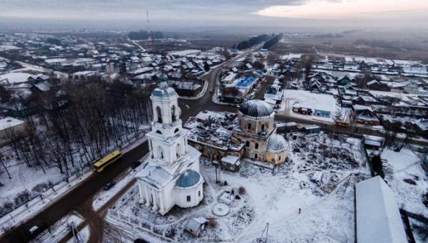 Церковь Троицы Живоначальной - Рамешки - Рамешковский район - Тверская область, восстанавливается, фото ноябрь 2014 года