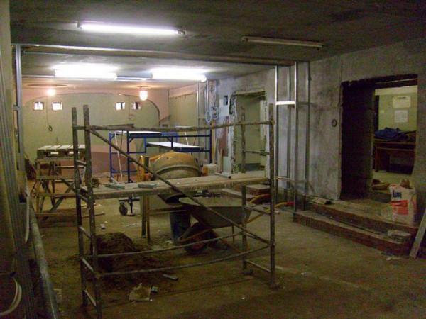 будущее помещение храма во время ремонта