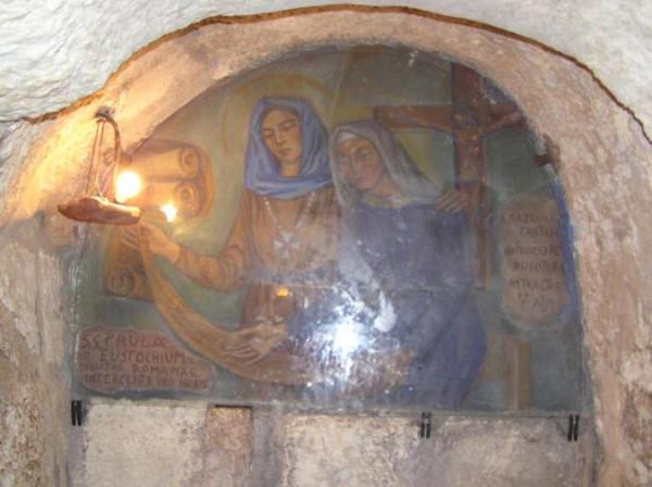 Вифлеем, церковь св. Екатерины, могилы свв. Паулы и Евстохии