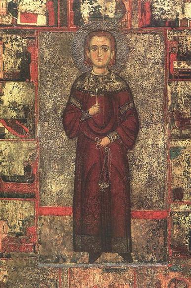 Св. Иоанн Лампадист. Икона XIII века из соборного храма монастыря