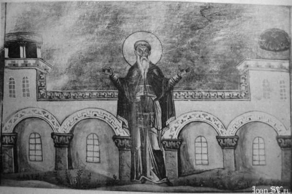 Преподобный Вассиан Константинопольский Миниатюра Минология Василия II
