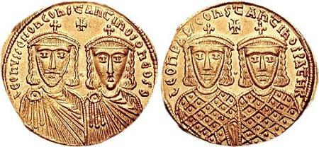 Лев IV Хазар с сыном Константином VI