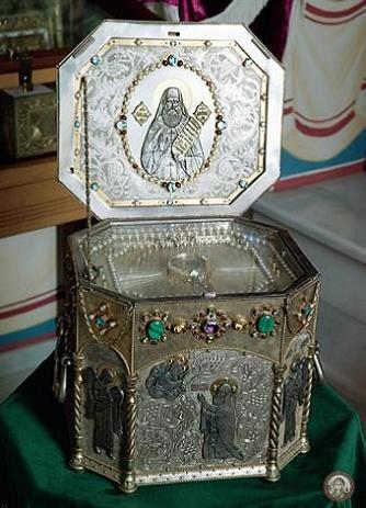 ковчег с мощами прп. Силуана Афонского