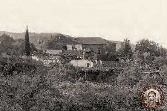 Грузинская келья ап. Иоанна Богослова на Афоне, фото начала XX века