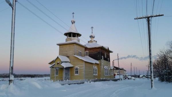 Храм Преображения Господня на Малой Пинеге (ныне Согра), Архангельская область, восстановлен